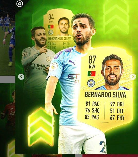 Bernardo Silva FIFA 20 Ratings