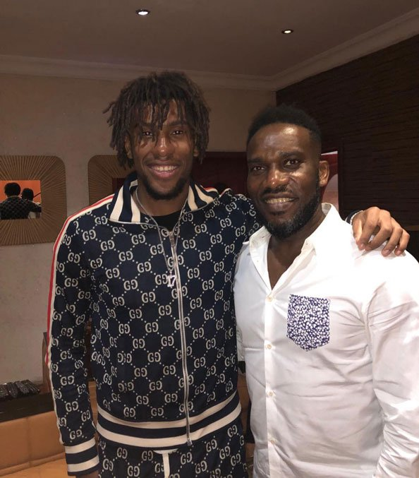 Okocha and his nephew, Iwobi