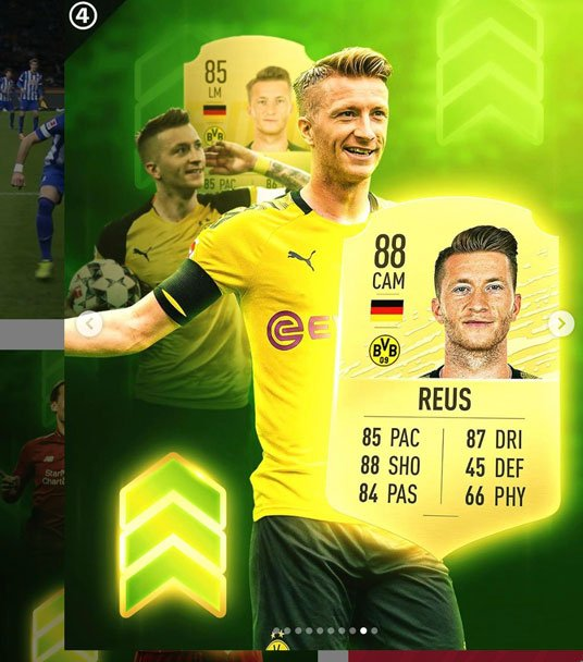 Marco Reus - player upgrades in FIFA 20