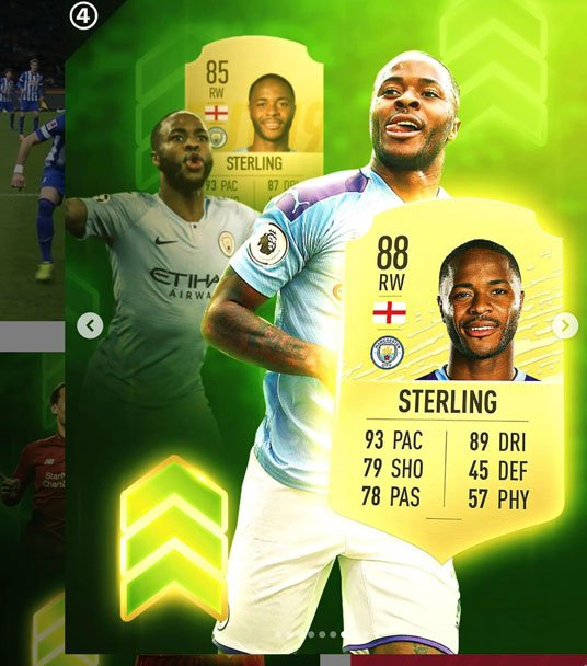 Sterling FIFA 20 Ratings