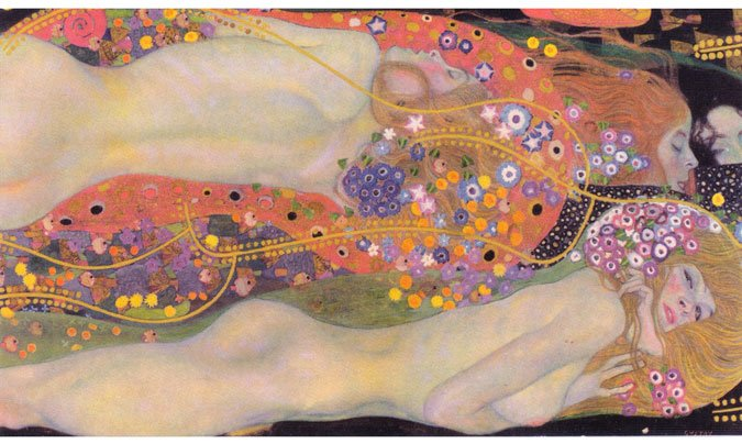 """Wasserschlangen Ii"" by Gustav Klimt - most expensive paintings ever sold"