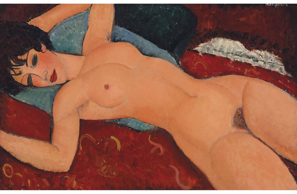 Nu Couche by Amedeo Modigliani - most expensive paintings ever sold