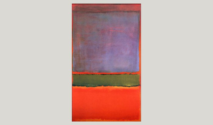 No 6 - Violet Green and Red' by Mark Rothko