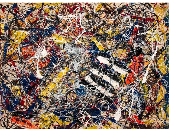 'Number 17a' by Jackson Pollock