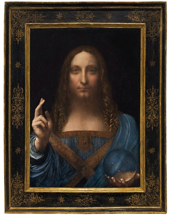 Salvator Mundi by Leonardo Da Vinci - most expensive paintings ever sold