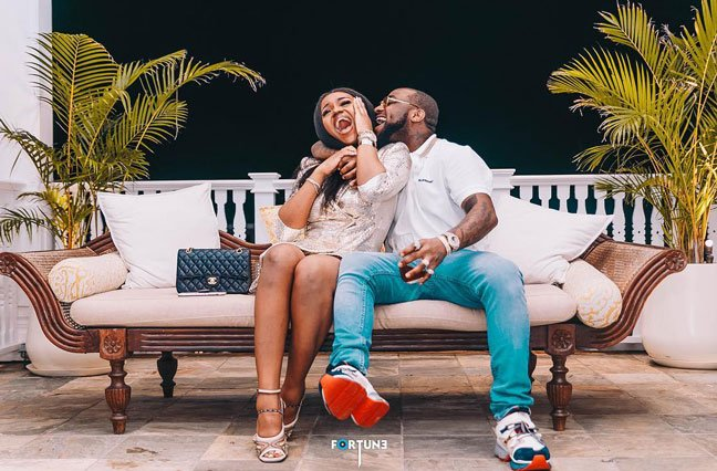 Davido with Chioma