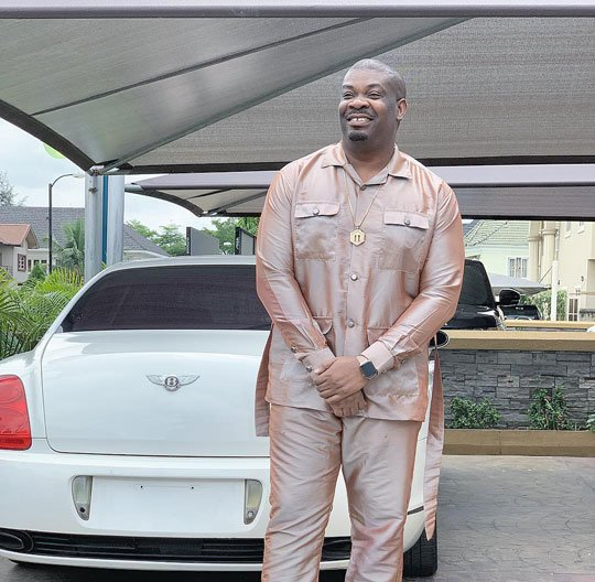 Don Jazzy with his Bentley car