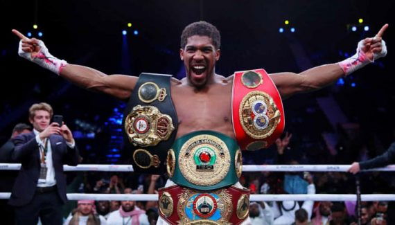 Anthony Joshua reclaims heavyweight titles