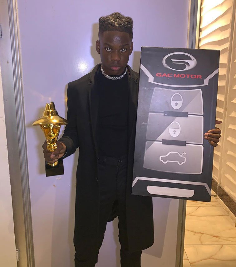 Rema wins next rated Headies award and a brand new car