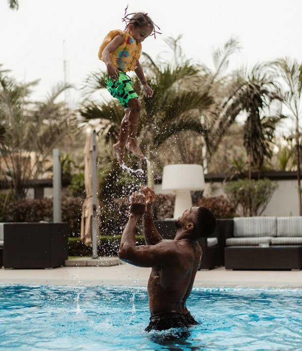 Anthony Joshua and Son