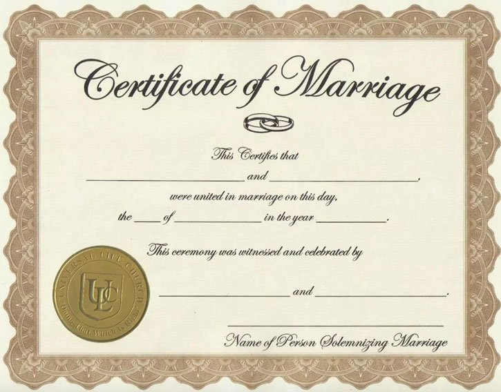 marriage certificate in Nigeria