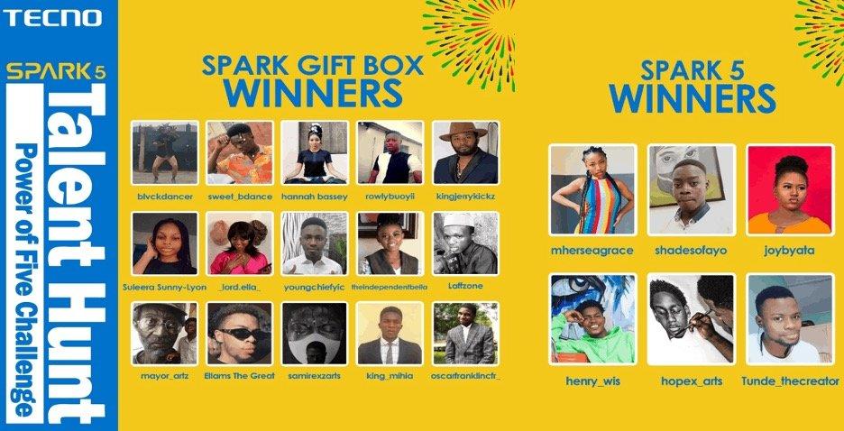 spark gift box winners