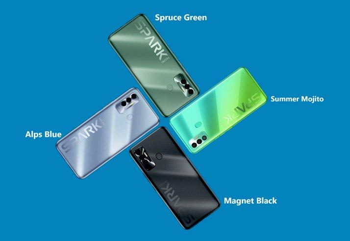 tecno spark 7 series colours