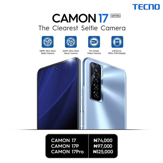camon 17 series prices