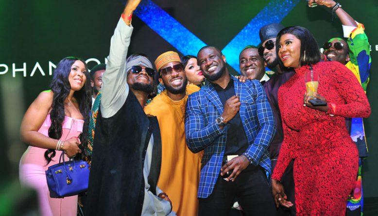 Phantom X Launch celebrities