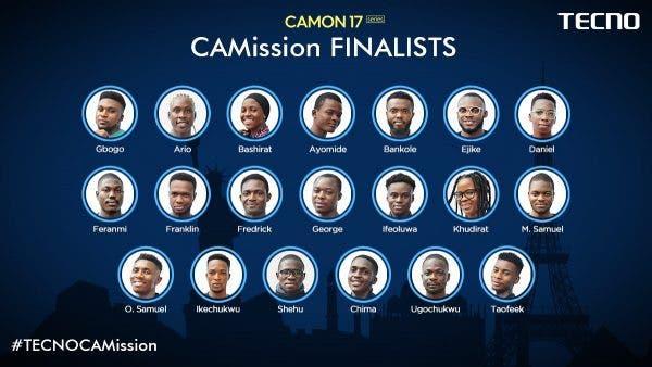tecno camission season 2 finalists